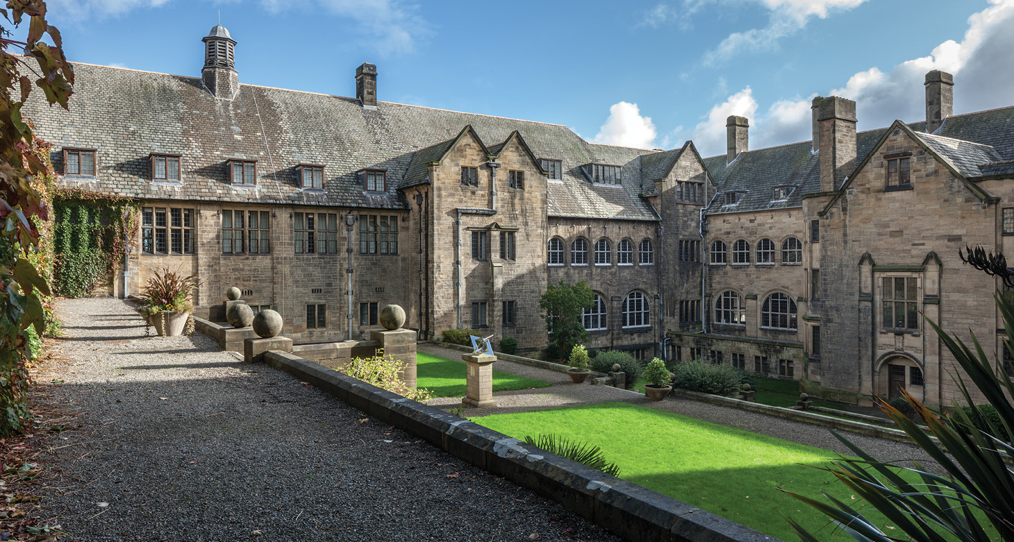 right Quarrymen and slate-workers helped pay for the buildings of Bangor University; ironically, the slate used for the roofs came from Gilfach in South Wales because the architect, Henry Thomas Hare, considered that the grey-green rustic slates were better suited to his new buildings than the flat blue-grey slates of North Wales.
