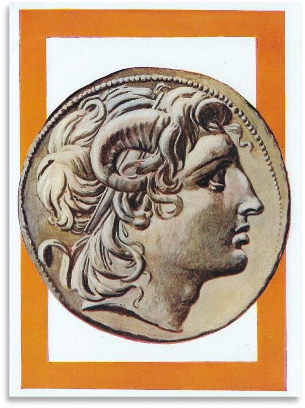 ABOVE Coin portrait of Alexander in the guise of Zeus-Ammon. Following his visit to the Sanctuary of Zeus-Ammon at the Siwah Oasis in Egypt's Western Desert, Alexander seems to have convinced himself that he was the son of Zeus.