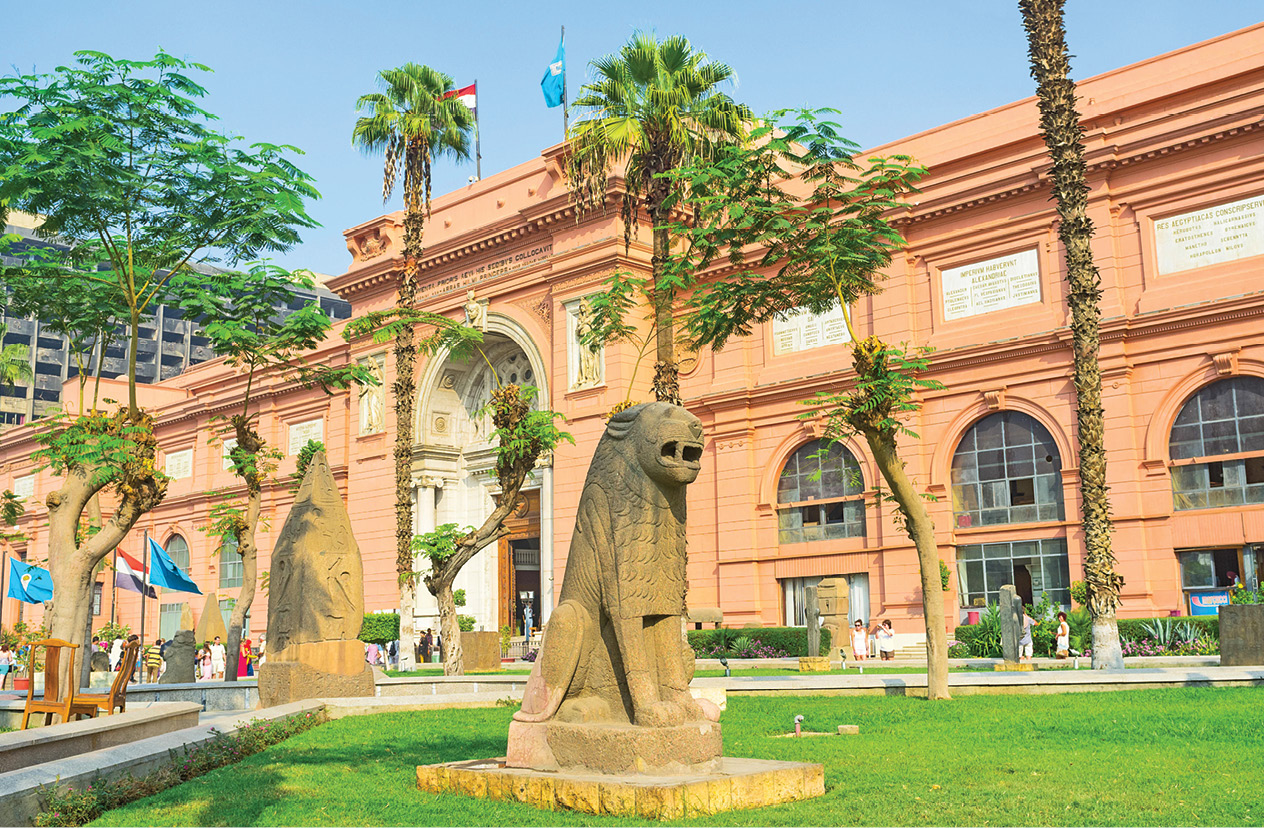 above The Egyptian Museum in Tahrir Square, Cairo, whose first director was Auguste Mariette.