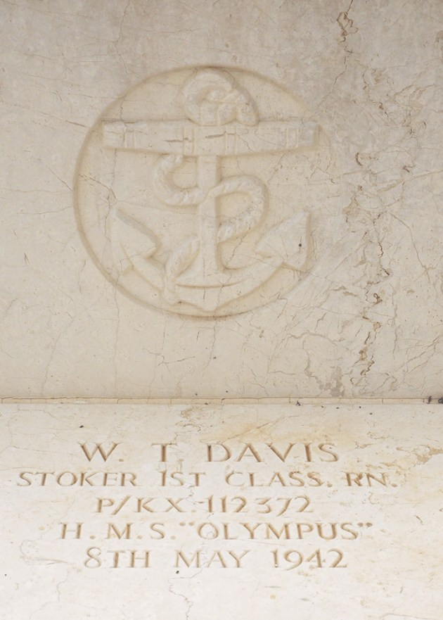 right Detail of the grave of the ten submariners whose bodies were recovered.