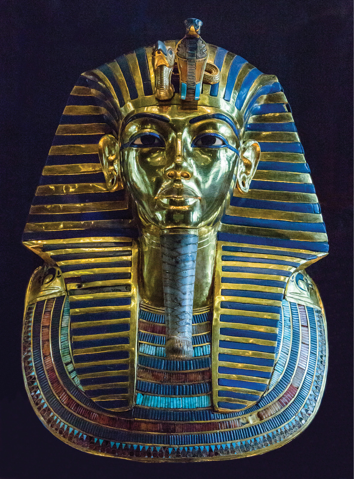 LEFT The golden funerary mask of Tutankhamun, brought to light by Howard Carter and his team in 1922, quickly becoming perhaps the most famous of all archaeological finds.