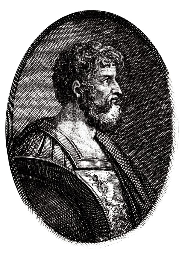 Left Epaminondas of Thebes (c. 418-362 BC). He is one of the forgotten geniuses of military history. There are no contemporary portraits, so this image is imaginative. Yet his impact on ancient history was immense: he destroyed the power of Sparta and inspired the victories of