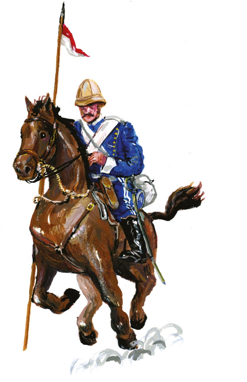 BELOW Cavalryman of the 17th Lancers during the Anglo-Zulu War.