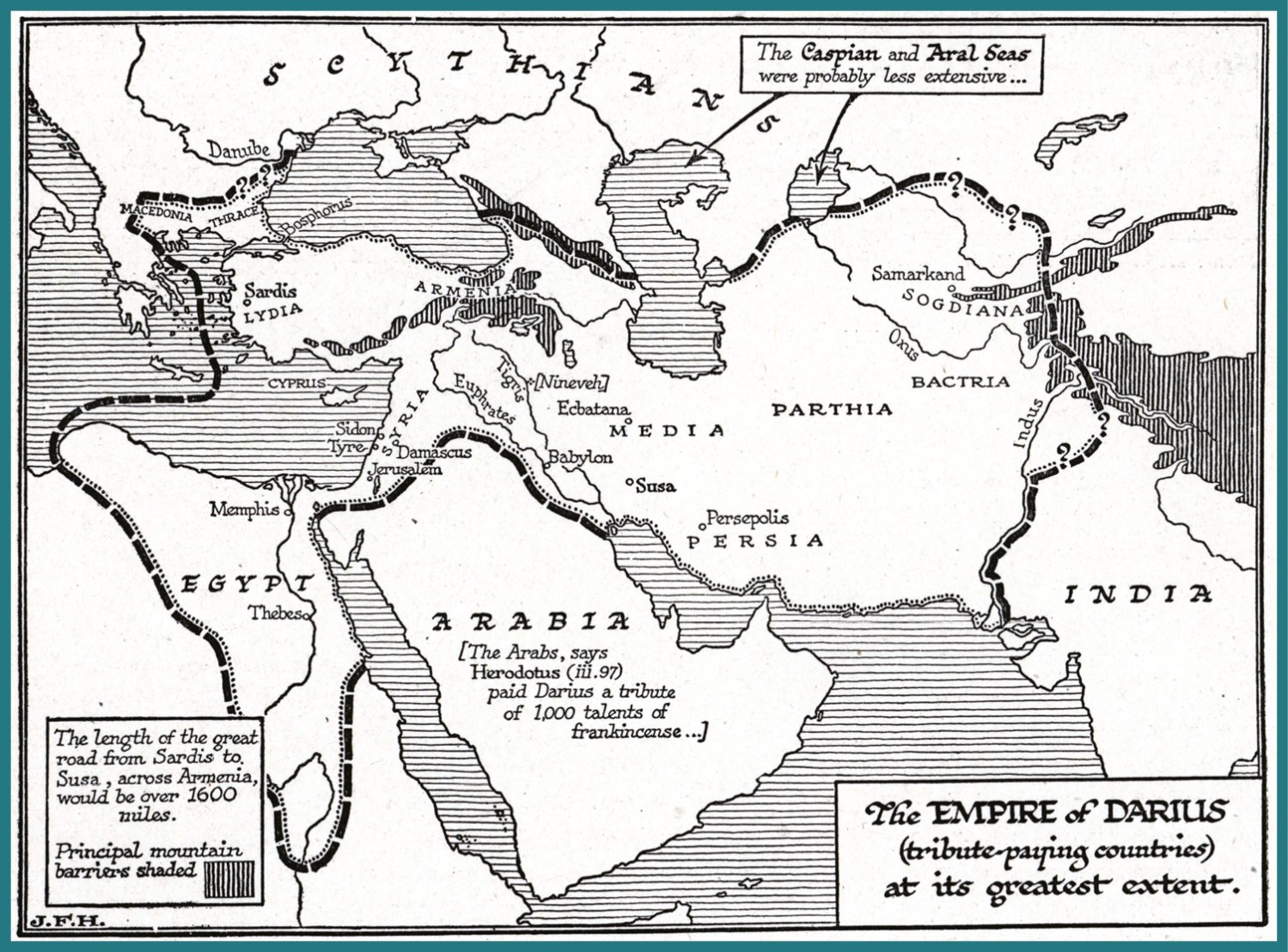ABOVE The Persian Empire at its peak.