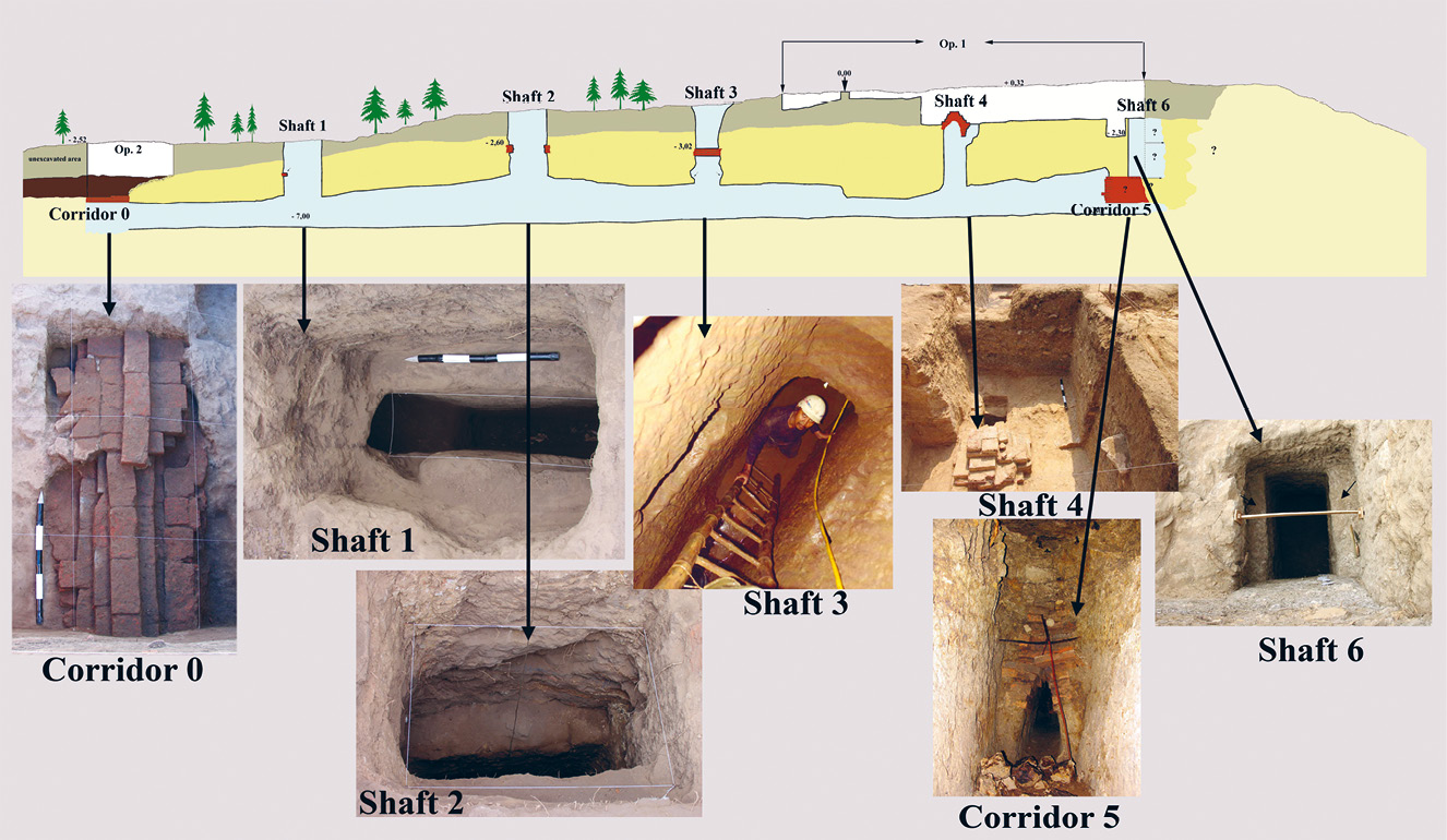 below The underground complex at Gua Made, seen in cross section.