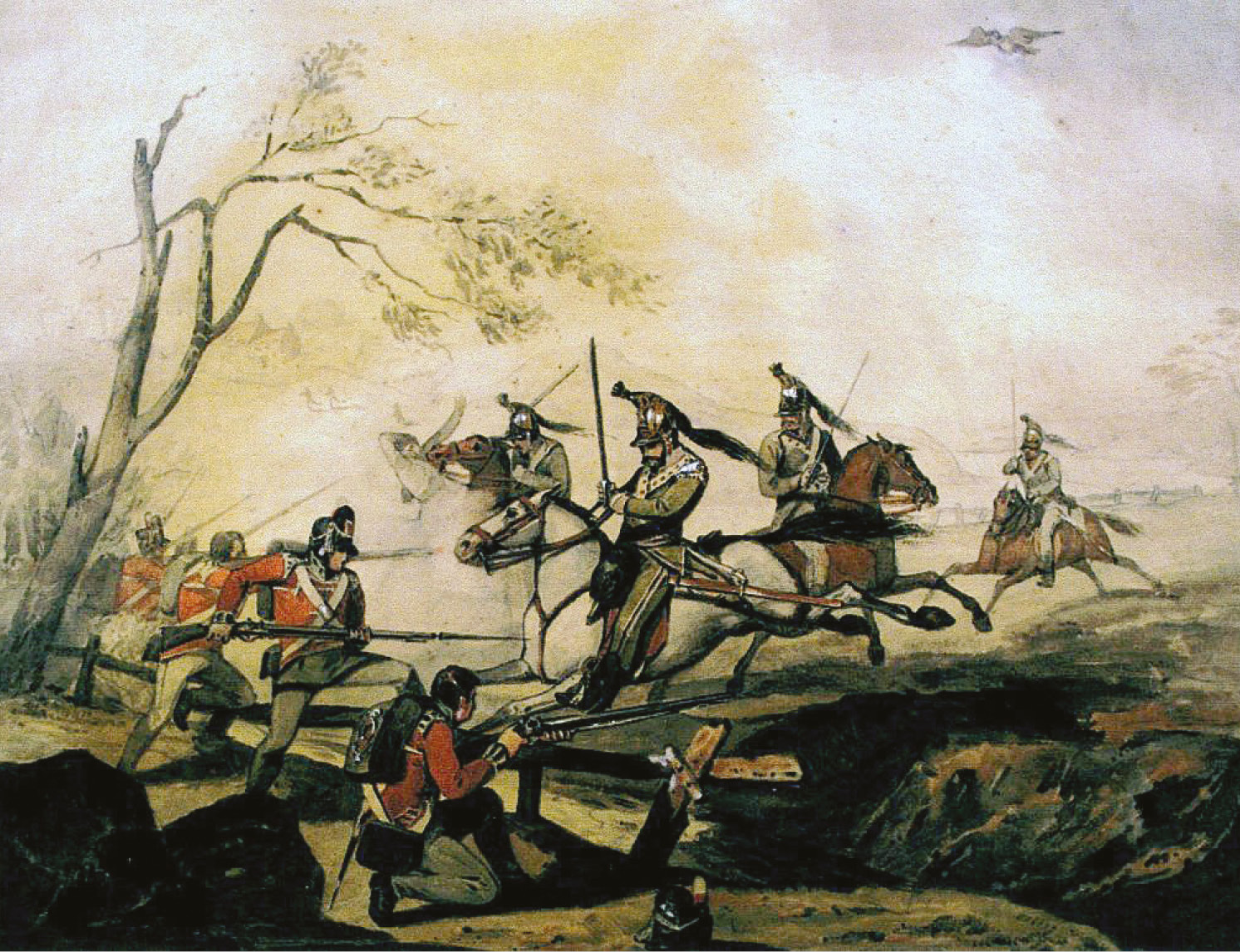 BELOW British infantry fight against the French heavies at Corunna. Moore recognised the need for an agreed and coherent light-infantry system across the whole British Army.