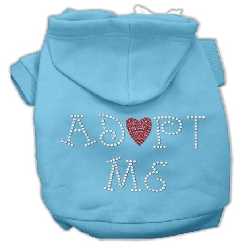 Adopt Me Rhinestone Dog Hoodie - Baby Blue | The Pet Boutique