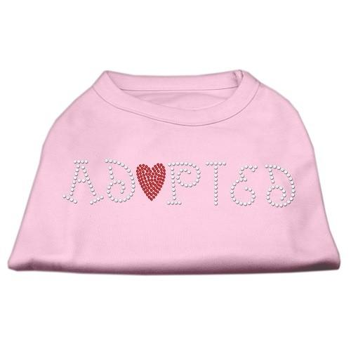 Adopted Rhinestone Dog Shirt - Light Pink | the Pet Boutique