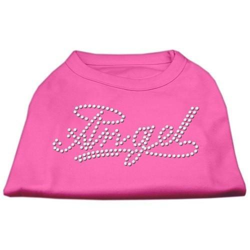 Angel Rhinestud Dog Shirt - Bright Pink   The Pet Boutique