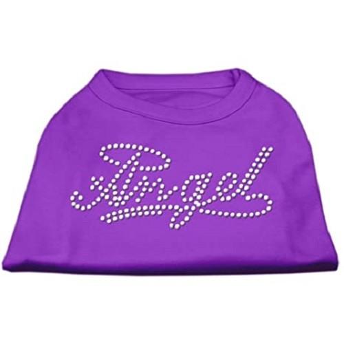 Angel Rhinestud Dog Shirt - Purple | The Pet Boutique