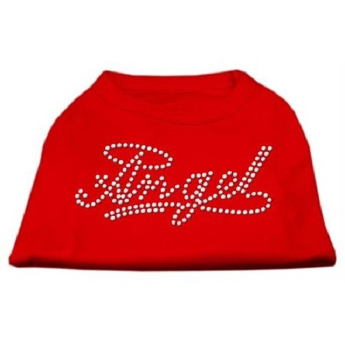 Angel Rhinestud Dog Shirt - Red | The Pet Boutique