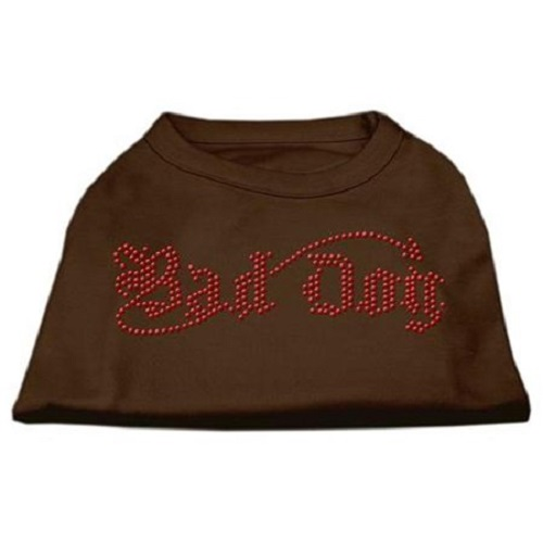 Bad Dog Rhinestone Dog Shirt - Brown | The Pet Boutique