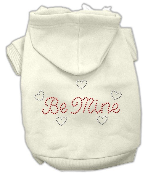 Be Mine Rhinestone Dog Hoodie - Cream | The Pet Boutique