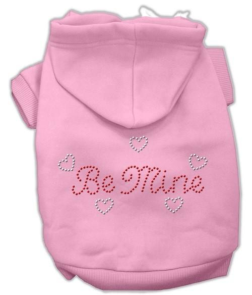 Be Mine Rhinestone Dog Hoodie - Pink   The Pet Boutique
