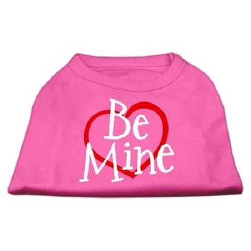 Be Mine Screen Print Dog Shirt - Bright Pink | The Pet Boutique