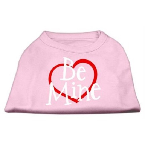 Be Mine Screen Print Dog Shirt - Light Pink | The Pet Boutique