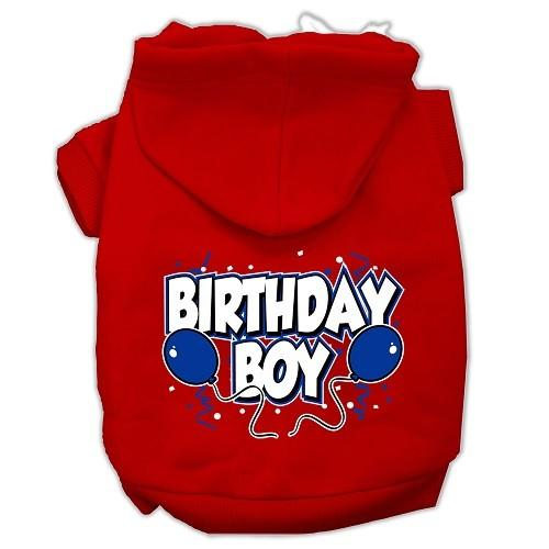 Birthday Boy Screen Print Pet Hoodie - Red | The Pet Boutique