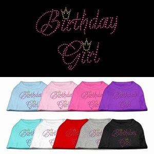 Birthday Girl Rhinestone Dog Shirt | The Pet Boutique