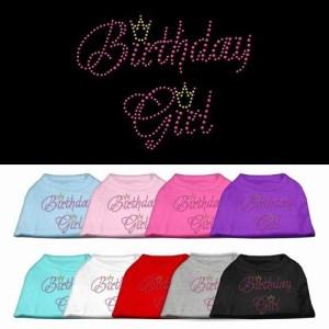 Birthday Girl Rhinestone Dog Shirt | The Pet Boutique