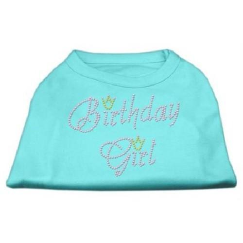 Birthday Girl Rhinestone Dog Shirt - Aqua   The Pet Boutique