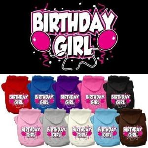 Birthday Girl Screen Print Pet Hoodie | The Pet Boutique