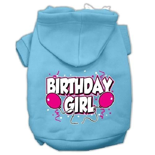 Birthday Girl Screen Print Pet Hoodie - Baby Blue | The Pet Boutique