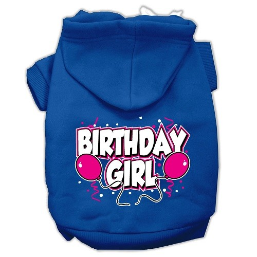 Birthday Girl Screen Print Pet Hoodie - Blue | The Pet Boutique