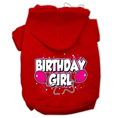 Birthday Girl Screen Print Pet Hoodie - Red | The Pet Boutique