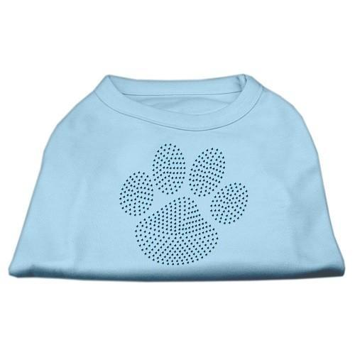 Blue Paw Rhinestud Dog Tank Top - Baby Blue | The Pet Boutique
