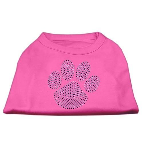 Blue Paw Rhinestud Dog Tank Top - Bright Pink | The Pet Boutique