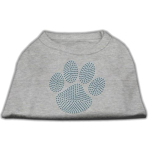 Blue Paw Rhinestud Dog Tank Top - Grey | The Pet Boutique