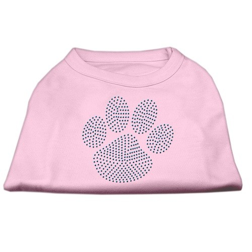 Blue Paw Rhinestud Dog Tank Top - Light Pink | The Pet Boutique