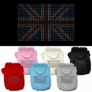 British Flag Rhinestone Dog Hoodie | The Pet Boutique