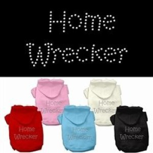 Home Wrecker Rhinestone Dog Hoodie | The Pet Boutique