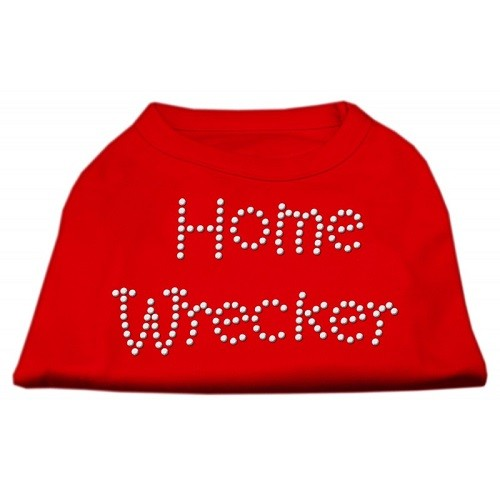 Home Wrecker Rhinestone Dog Tank Top - Red | The Pet Boutique