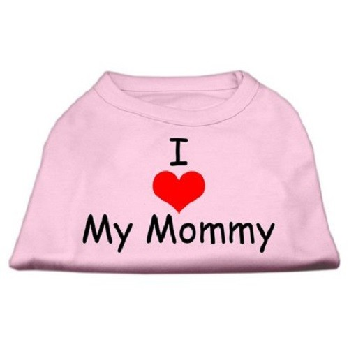 I Love My Mommy Screen Print Dog Shirt - Pink | The Pet Boutique