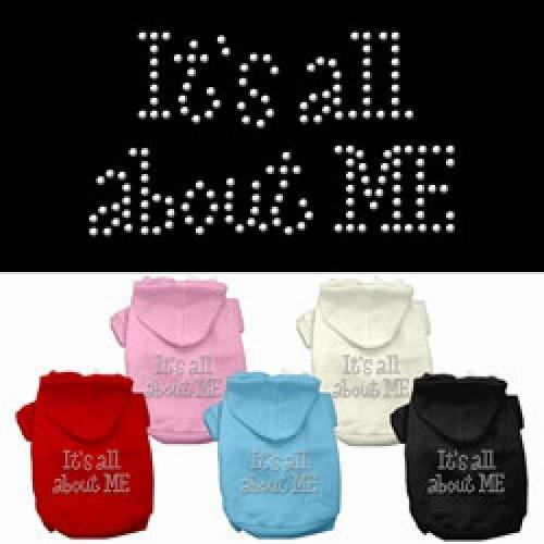 It's All About Me Rhinestone Dog Hoodie   The Pet Boutique