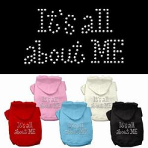 It's All About Me Rhinestone Dog Hoodie | The Pet Boutique