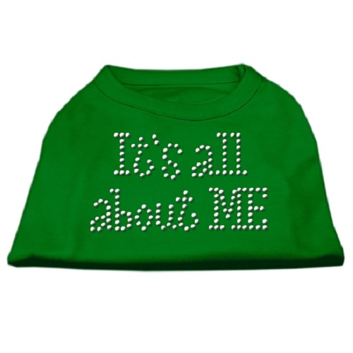 It's All About Me Rhinestone Dog Shirt - Emerald Green | The Pet Boutique