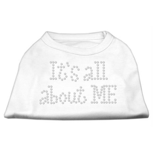 It's All About Me Rhinestone Dog Shirt - White | The Pet Boutique