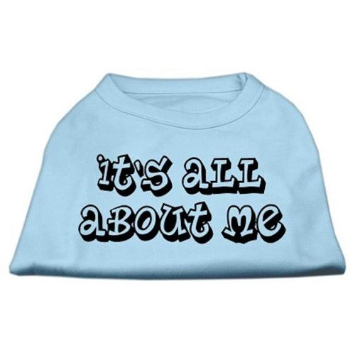 It's All About Me Screen Print Dog Shirt - Baby Blue | The Pet Boutique