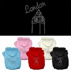 London Rhinestone Dog Hoodie | The Pet Boutique