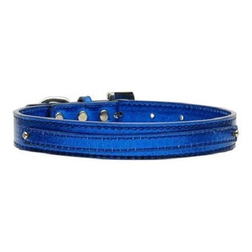 Metallic Two Tier Dog Collar - Blue | The Pet Boutique