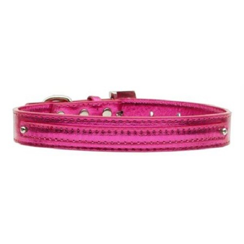 Metallic Two Tier Dog Collar - Pink | The Pet Boutique