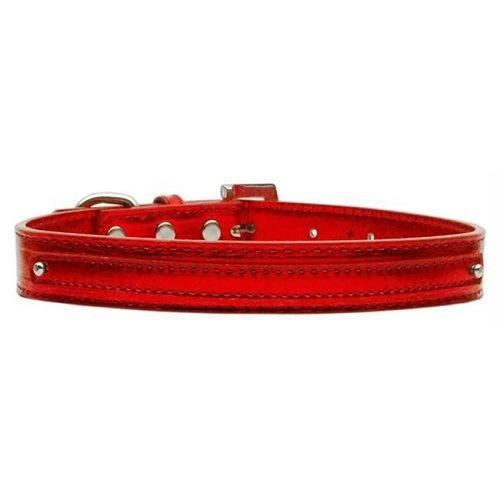Metallic Two Tier Dog Collar - Red | The Pet Boutique