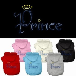 Prince Rhinestone Dog Hoodie | The Pet Boutique