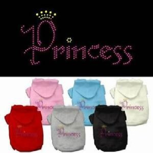 Princess Rhinestone Dog Hoodie | The Pet Boutique