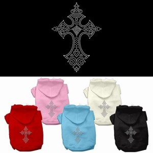 Rhinestone Cross Dog Hoodie | The Pet Boutique