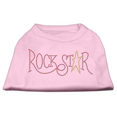 Rock Star Rhinestone Dog Tank Top - Light Pink | The Pet Boutique