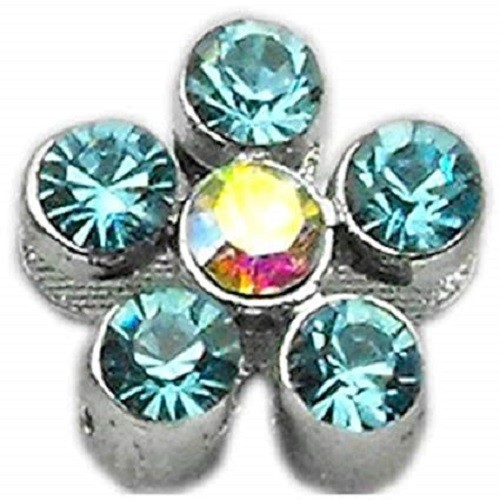 Slider Flower Collar Charm - Turquoise | The Pet Boutique